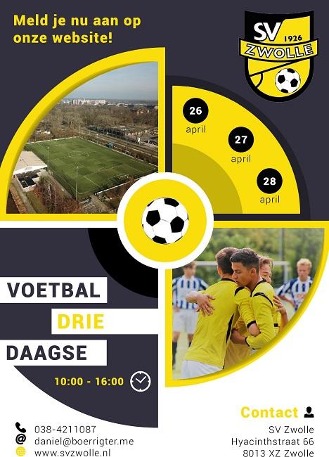 SV Zwolle Voetbal Driedaagse: meeste deelnemers ooit